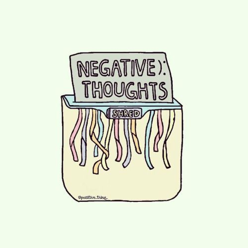 Image result for bye negative thoughts