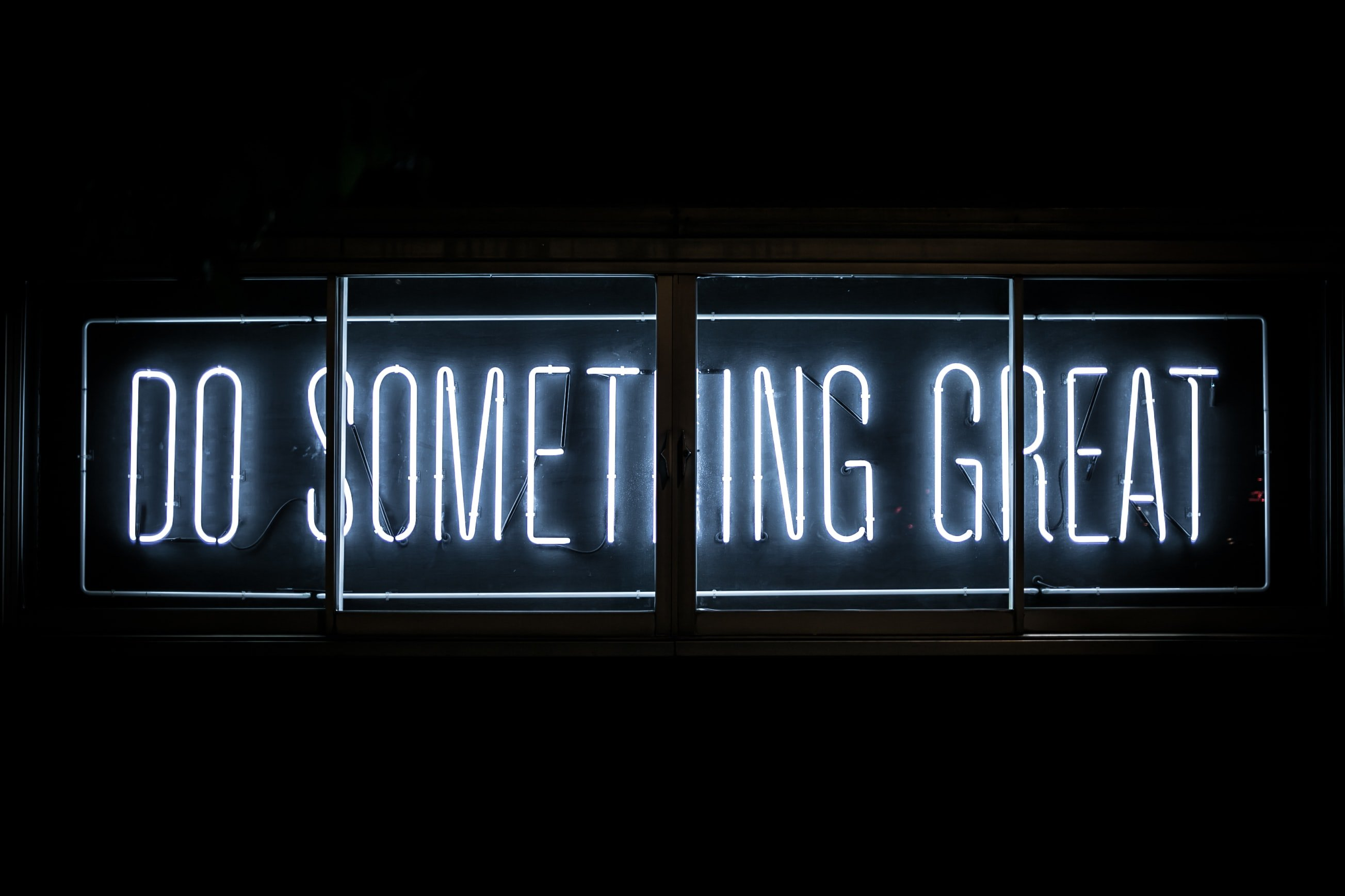 Do Something Great neon sign